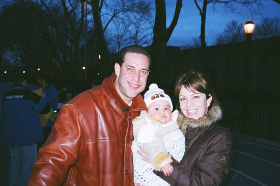 Ishmael, Jeannine Turchiano, Exec. Sales & Marketing, Duane Reade and baby daughter