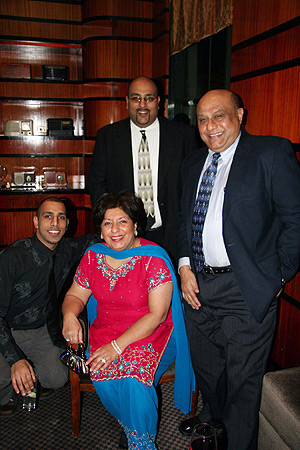 Tazzime and Babu Khalfan with sons Haz and Mohammad