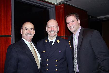 Dr. Angelo Gimondo, FDNY Chief Salvatore Cassano, and famous artist Bill Lopa